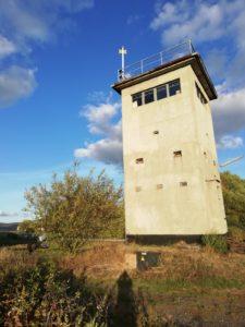 ehemaliger Grenzturm an der Landesgrenze zu Thüringen